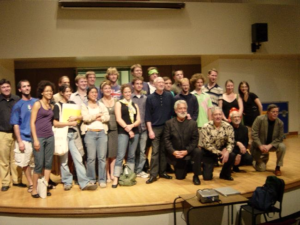 Participants at the Toronto Summer Music Festival with members ofNexus in 2006.